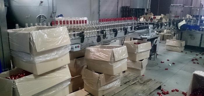 Цех по производству нелегальной водки